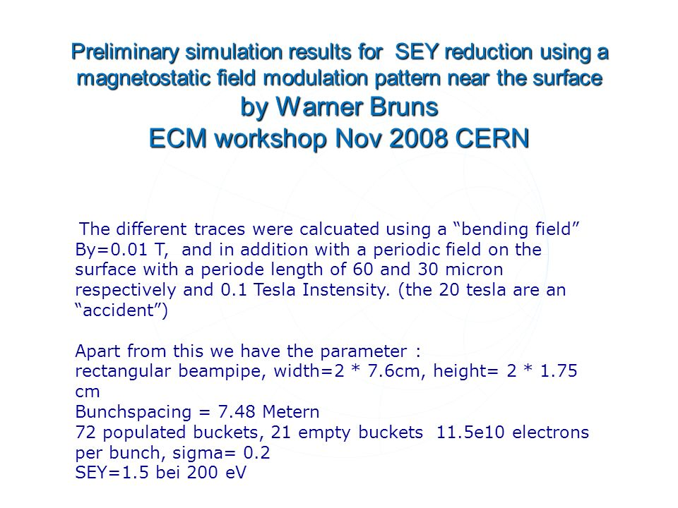 First numerical simulation results