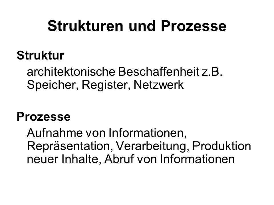 Strukturen und Prozesse Struktur architektonische Beschaffenheit z.B.