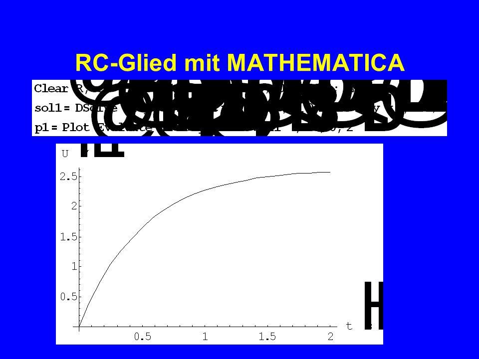 RC-Glied mit MATHEMATICA