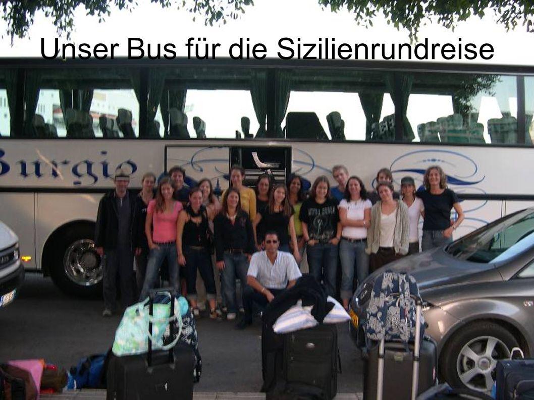 Unser Bus für die Sizilienrundreise