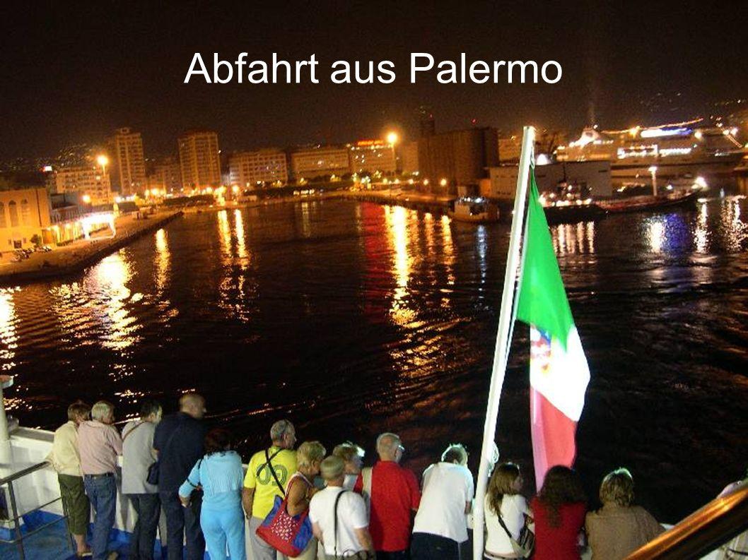 Abfahrt aus Palermo