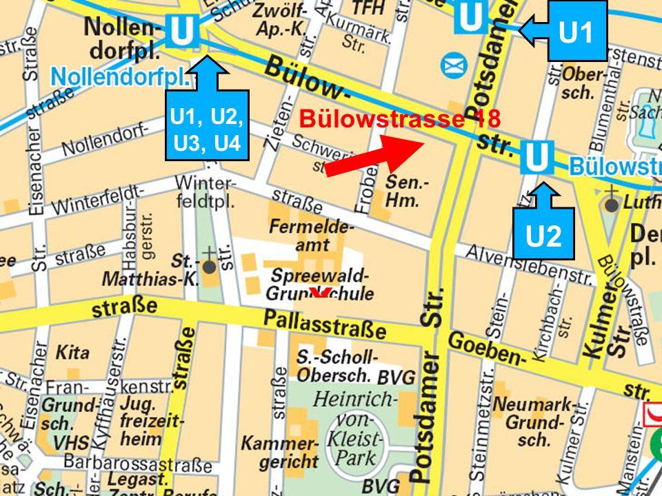 Mit welchen U-Bahnen kann man fahren, um unsere Wohnung zu gehen