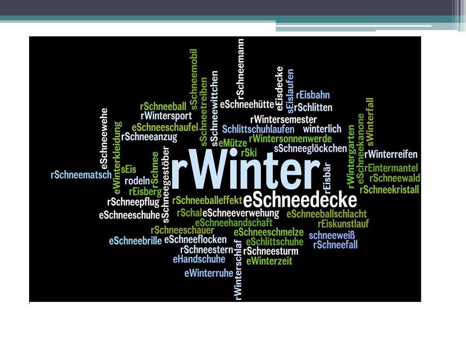 Wintergeschichte Winter beginnt am 21.Dezember.