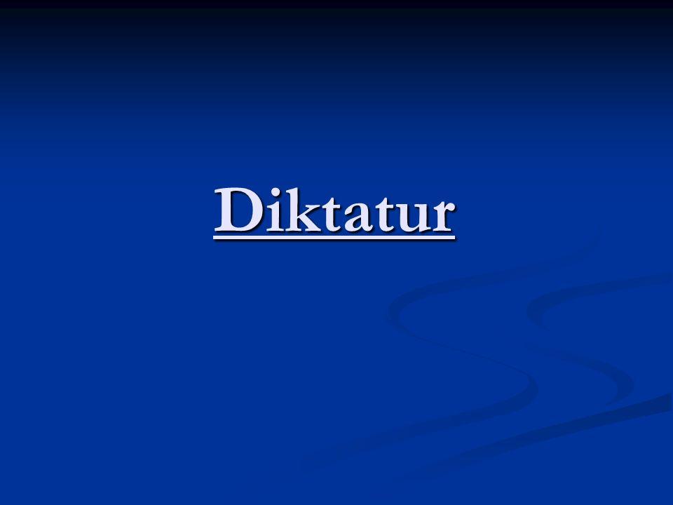 Diktatur - in Krisensituation z.B.: - wirtschaftliche Notlage z.B.: - wirtschaftliche Notlage - Bedrohung des Staates von außen - Bedrohung des Staates von außen