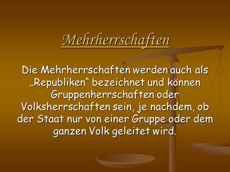 Parlamentarische Demokratie - Verbindung von Legislative und Exekutive - Bsp.: Deutschland - Parlament ist gesetzgebendes Organ und wählt die Regierung - Parlament hat mehr Macht gegenüber der Regierung