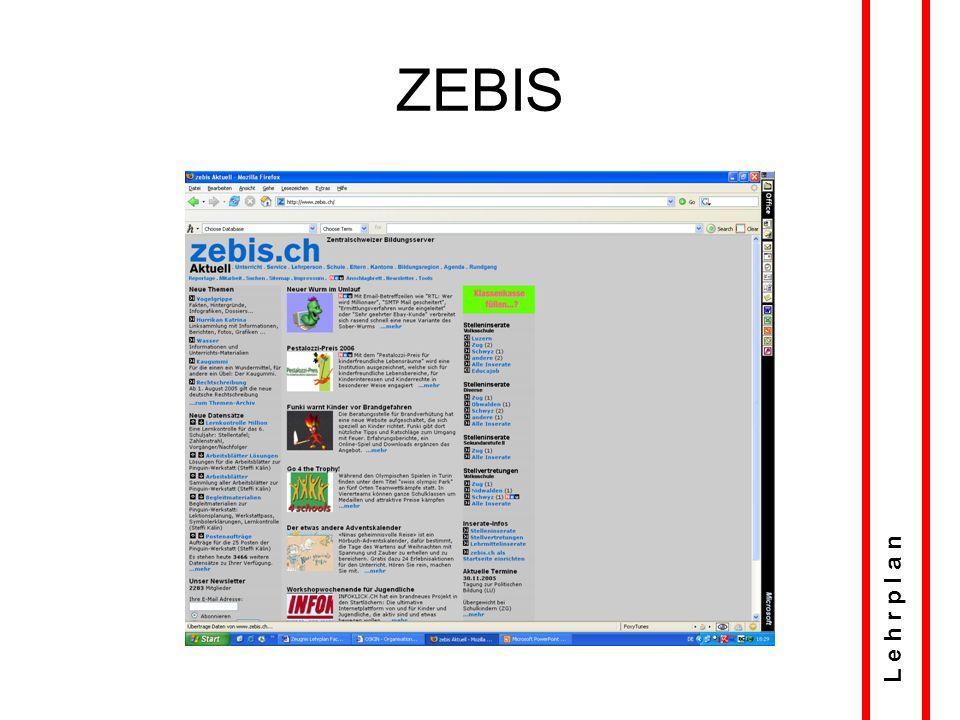 LP online: Zehn Fächer L e h r p l a n