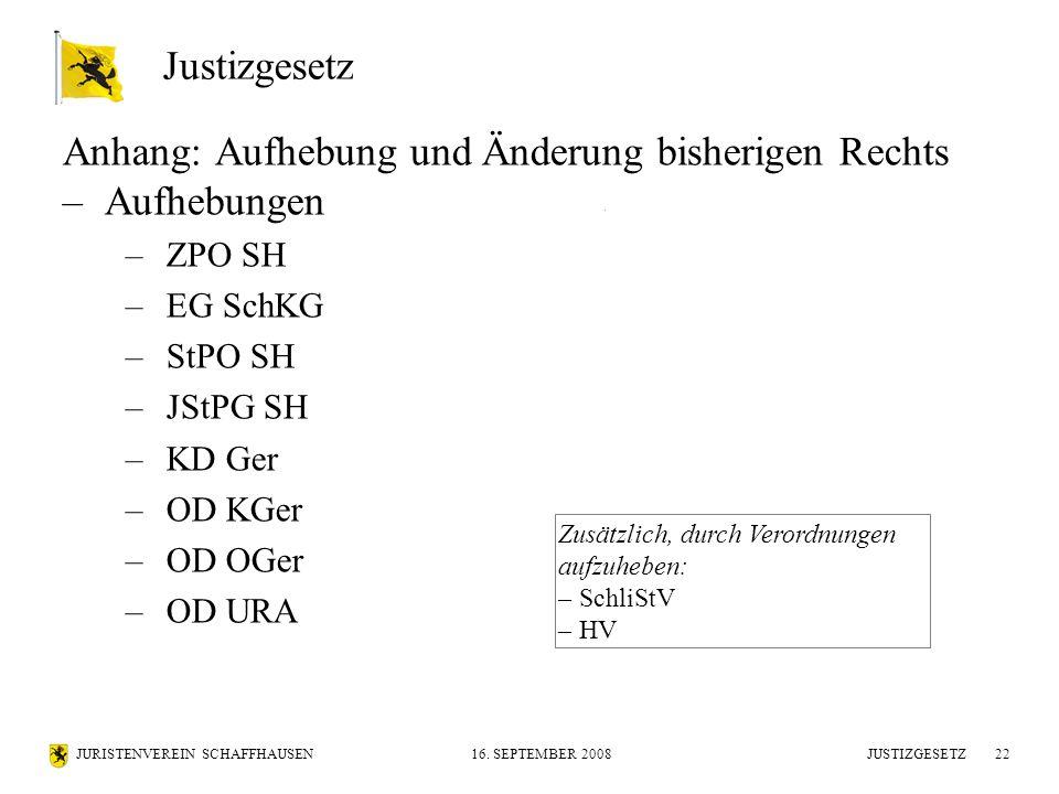 JURISTENVEREIN SCHAFFHAUSEN16.