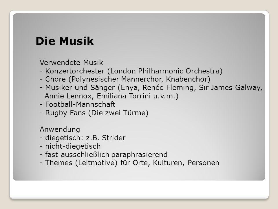 Die Musik Verwendete Musik - Konzertorchester (London Philharmonic Orchestra) - Chöre (Polynesischer Männerchor, Knabenchor) - Musiker und Sänger (Eny