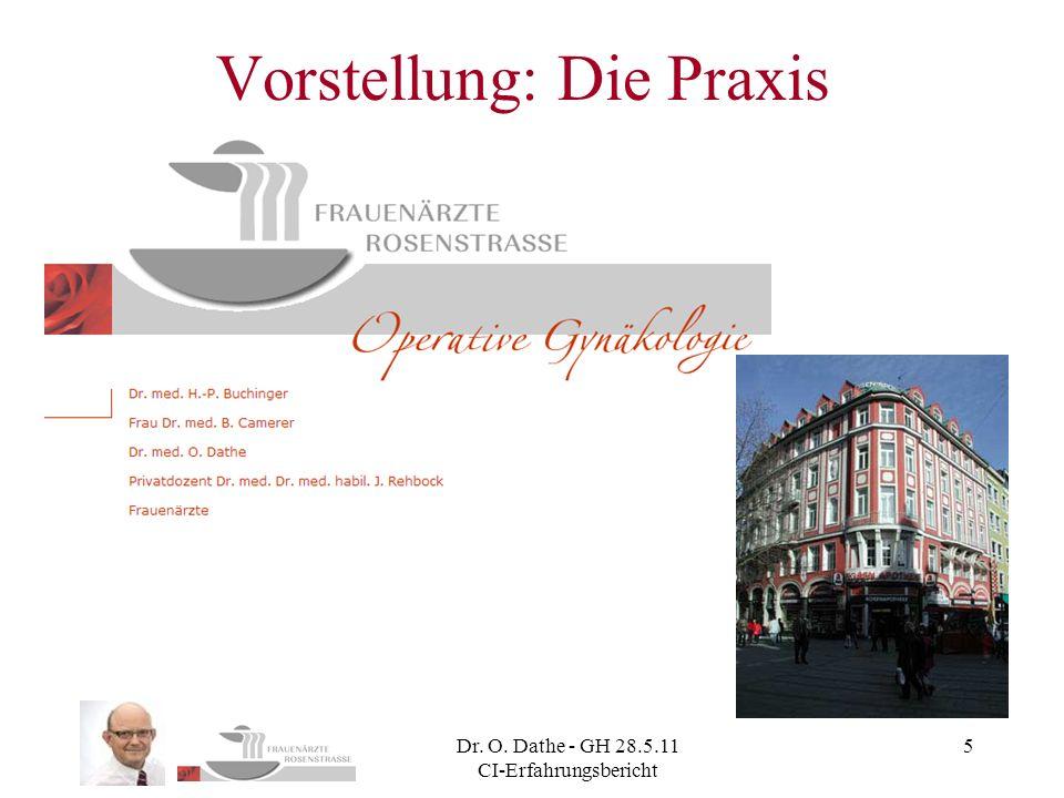 Dr. O. Dathe - GH 28.5.11 CI-Erfahrungsbericht 5 Vorstellung: Die Praxis