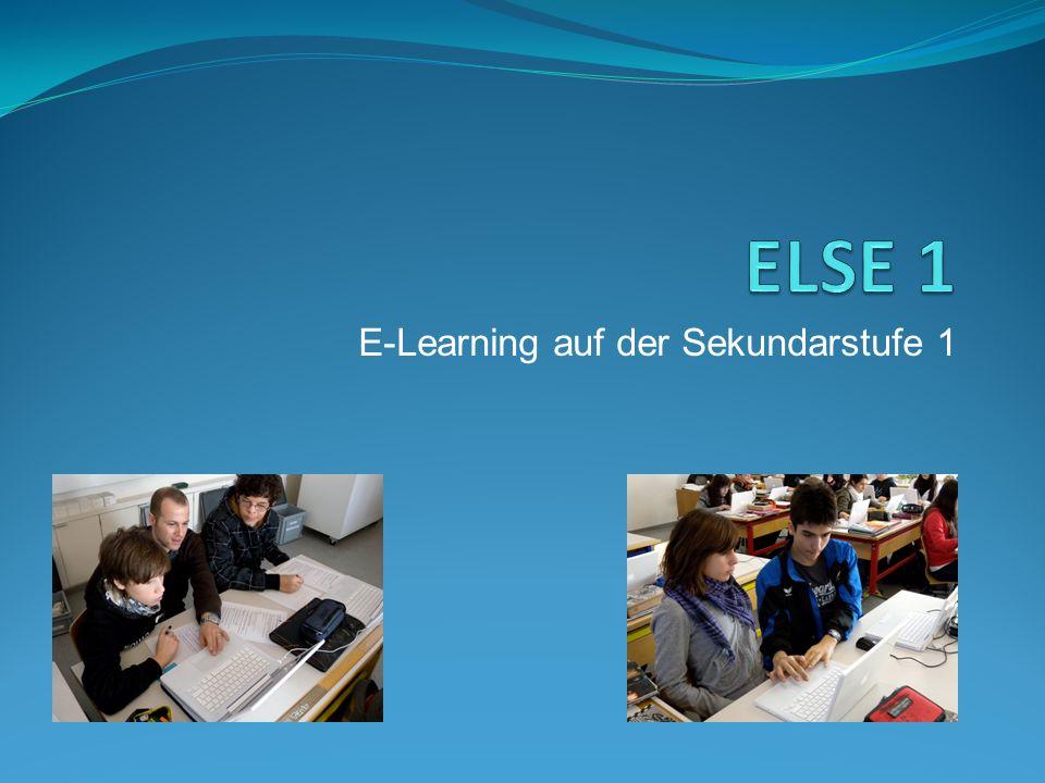 E-Learning auf der Sekundarstufe 1