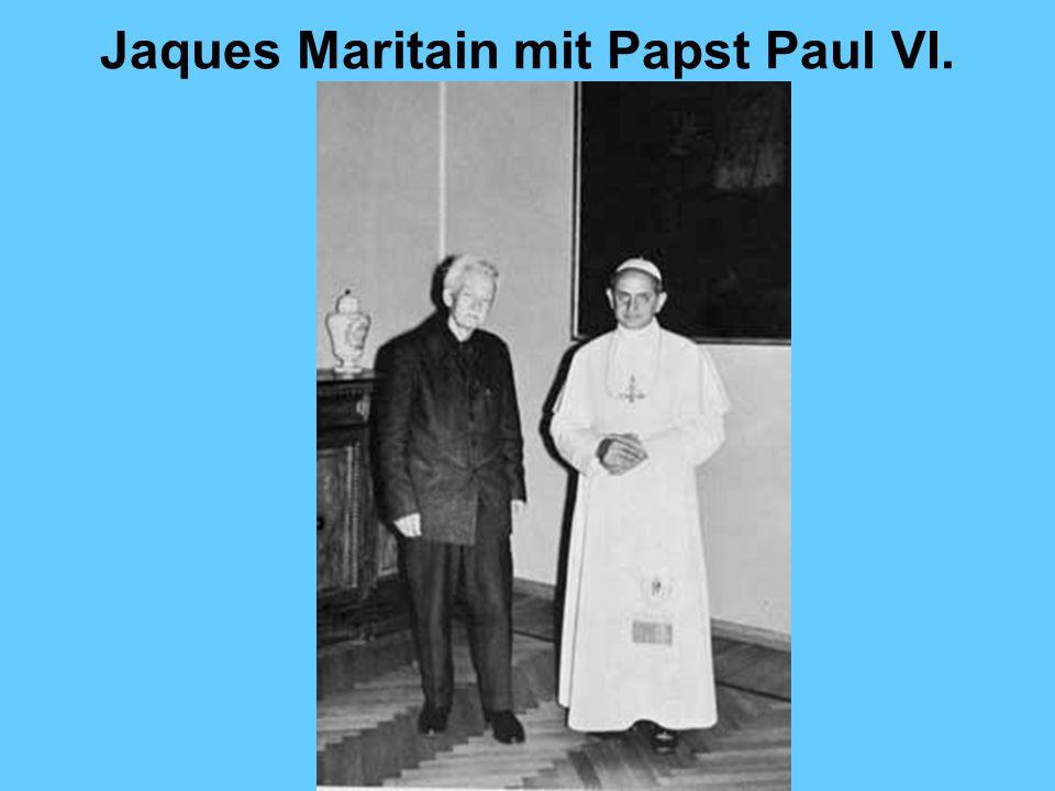Jaques Maritain mit Papst Paul VI.