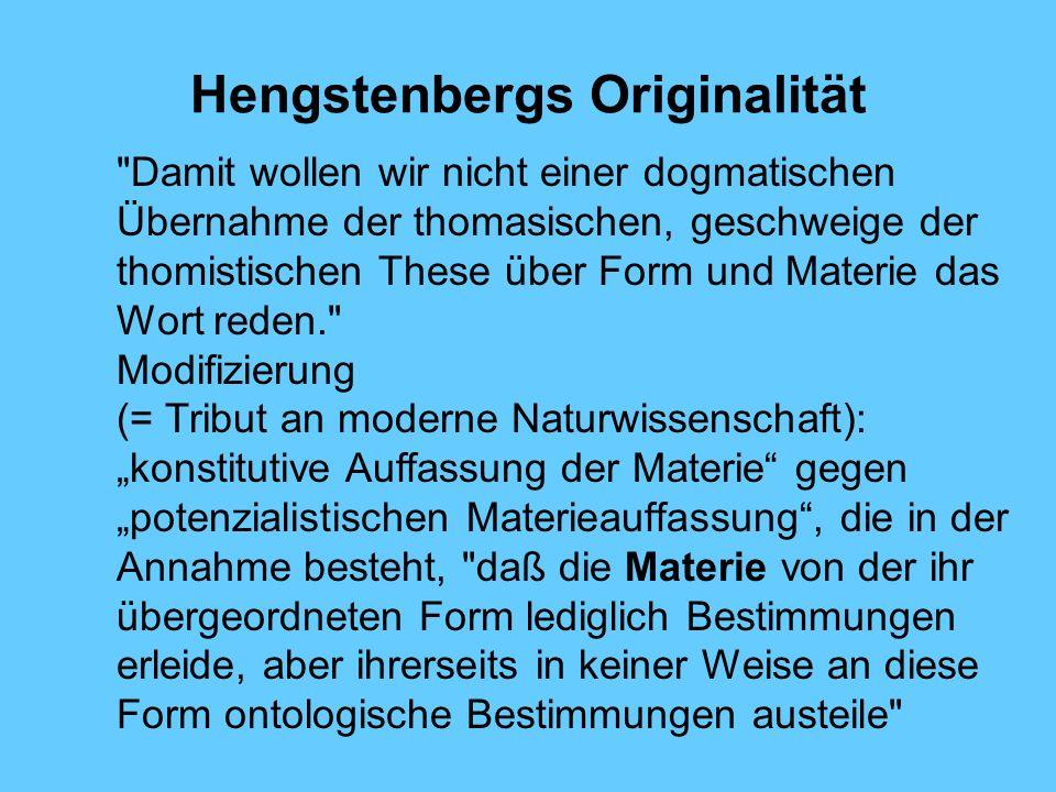 Hengstenbergs Originalität