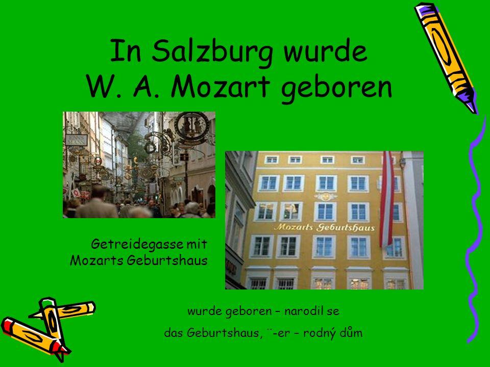 In Salzburg wurde W.A.