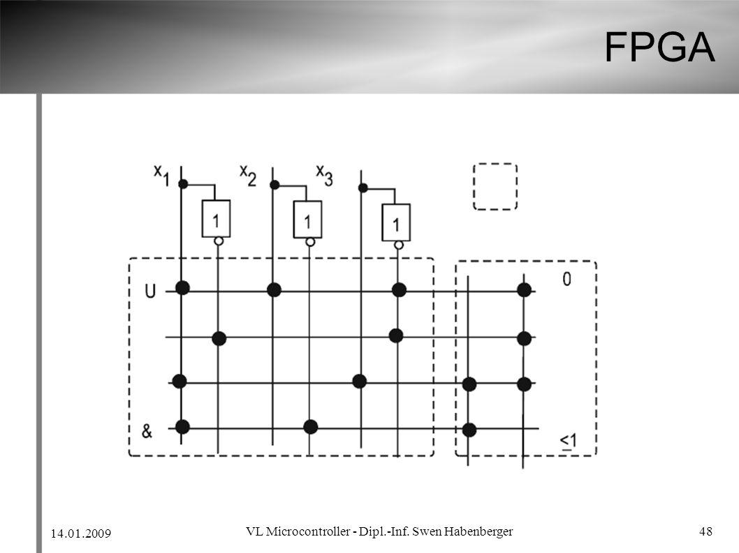 14.01.2009 VL Microcontroller - Dipl.-Inf. Swen Habenberger 48 FPGA