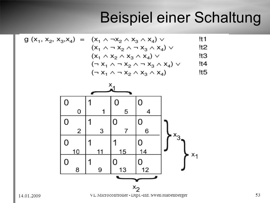 14.01.2009 VL Microcontroller - Dipl.-Inf. Swen Habenberger 53 Beispiel einer Schaltung