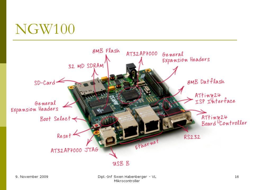 9. November 2009Dipl.-Inf Swen Habenberger - VL Mikrocontroller 16 NGW100