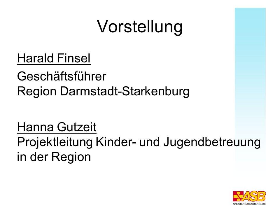 Qualität durch Weiterbildung der Fachkräfte Fortbildung und Schulung Wird beim ASB groß geschrieben - eigene Referentin / Fachberatung auf Landesebene - durch ASB-eigenes Bildungswerk in Köln - durch externe Fachinstitute (z.B.