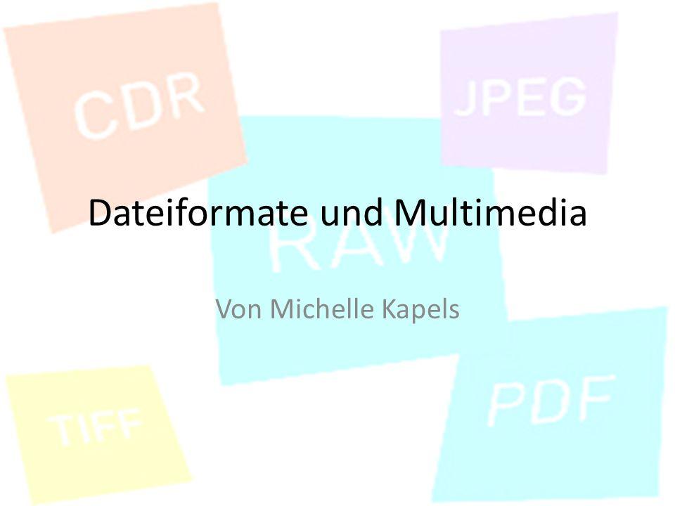 Dateiformate und Multimedia Von Michelle Kapels