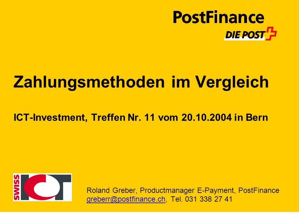 Zahlungsmethoden im Vergleich ICT-Investment, Treffen Nr.