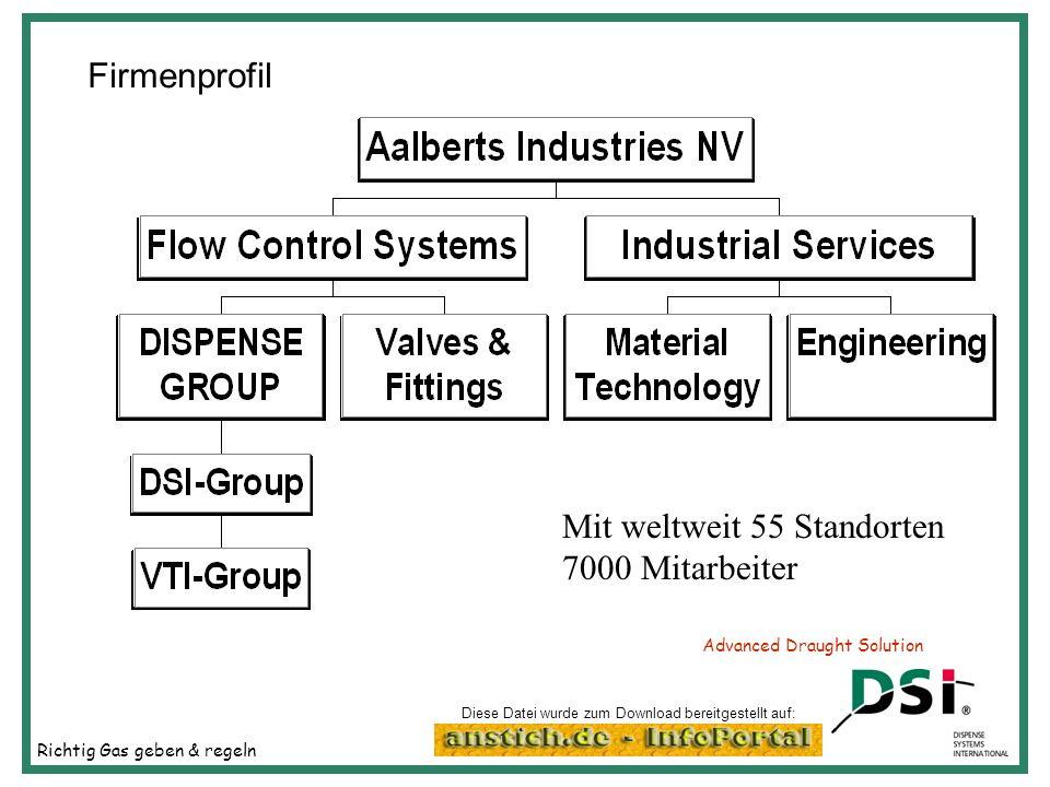 Richtig Gas geben & regeln Advanced Draught Solution Firmenprofil DSI Germefa Heiloo DSI Cologne VSH Hilversum Fuge Sarstedt 2001 Zusammenfassung von Diese Datei wurde zum Download bereitgestellt auf: