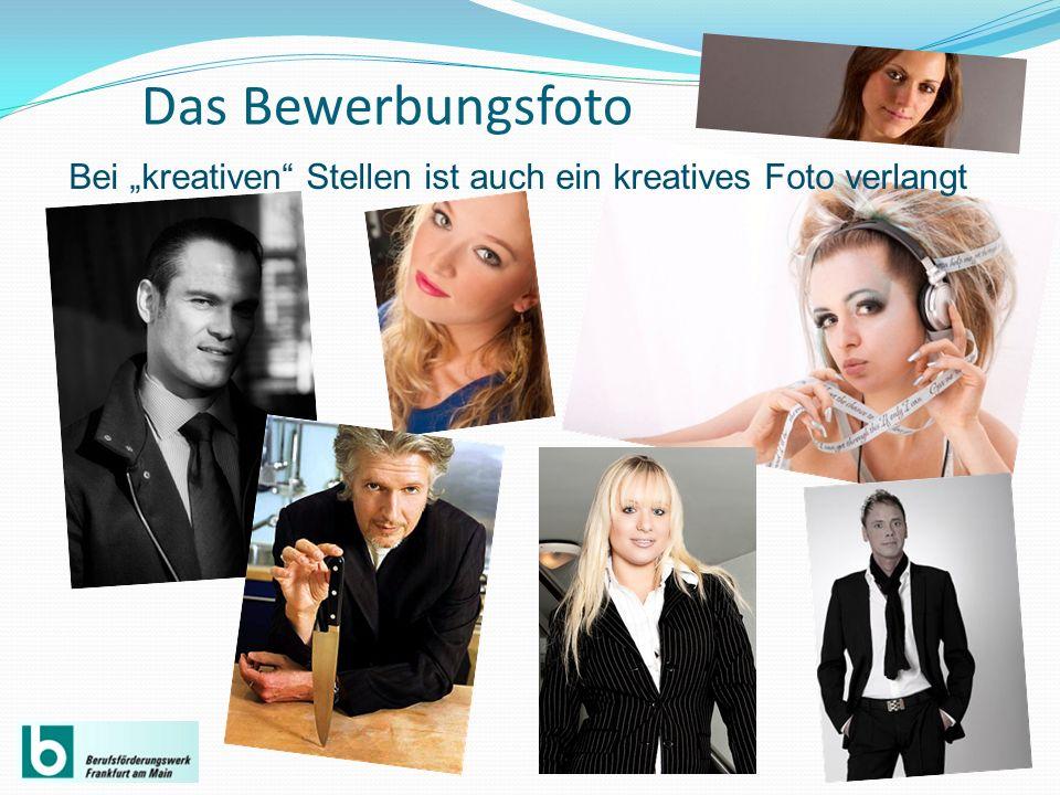 Das Bewerbungsfoto Bei kreativen Stellen ist auch ein kreatives Foto verlangt