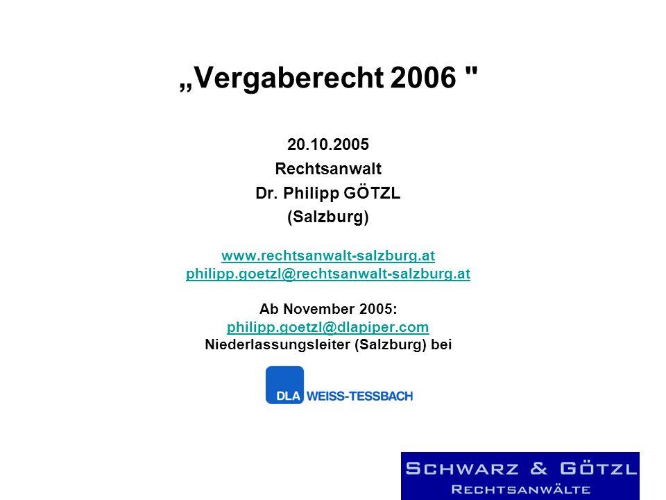 Vergaberecht 2006