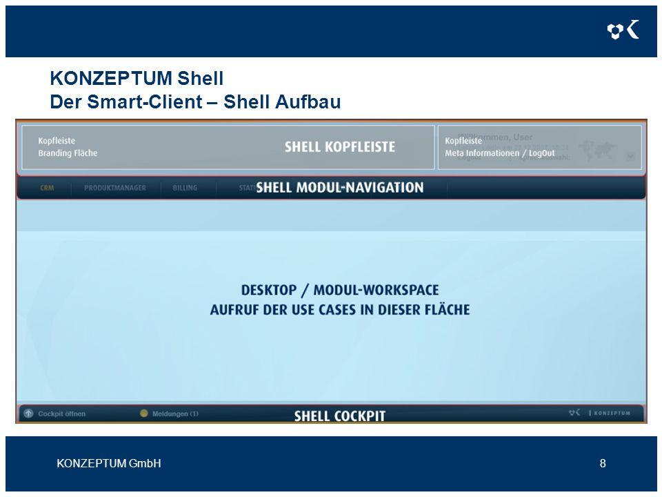 KONZEPTUM Shell Der Smart-Client – Shell Aufbau KONZEPTUM GmbH8