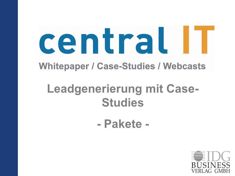 Leadgenerierung mit Case- Studies - Pakete -