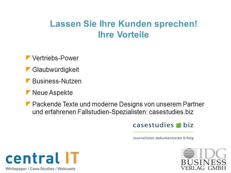 Vertriebs-Power Glaubwürdigkeit Business-Nutzen Neue Aspekte Packende Texte und moderne Designs von unserem Partner und erfahrenen Fallstudien-Spezial