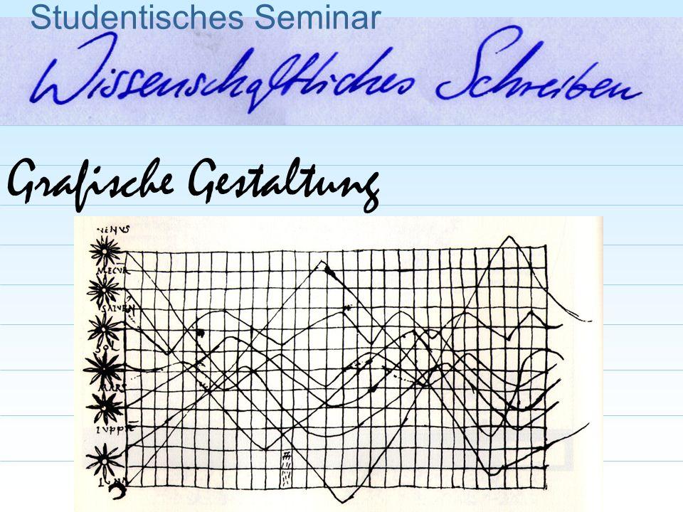 Grafische Gestaltung Studentisches Seminar