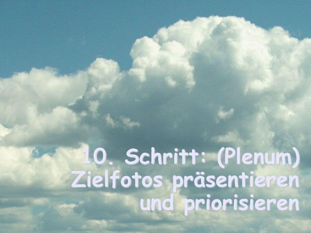 10. Schritt: (Plenum) Zielfotos präsentieren und priorisieren