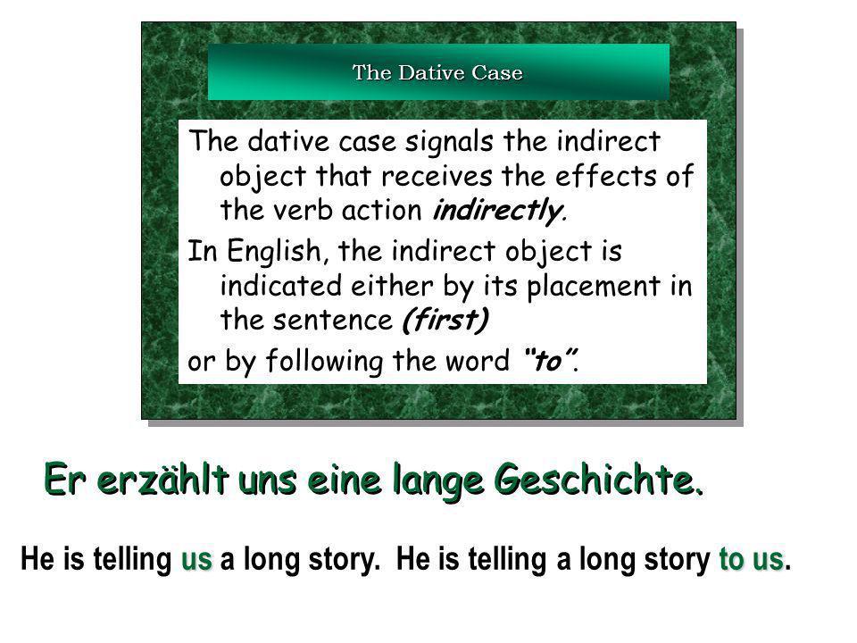 Dative prepositions aus außer bei mit nach seit von zu aus außer bei mit nach seit von zu Any noun that follows one of these dative prepositions is called a dative prepositional object.