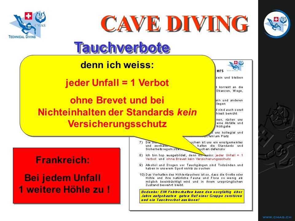 treffen uns ALLE....TauchverboteTauchverbote CAVE DIVING Frankreich: Bei jedem Unfall 1 weitere Höhle zu .