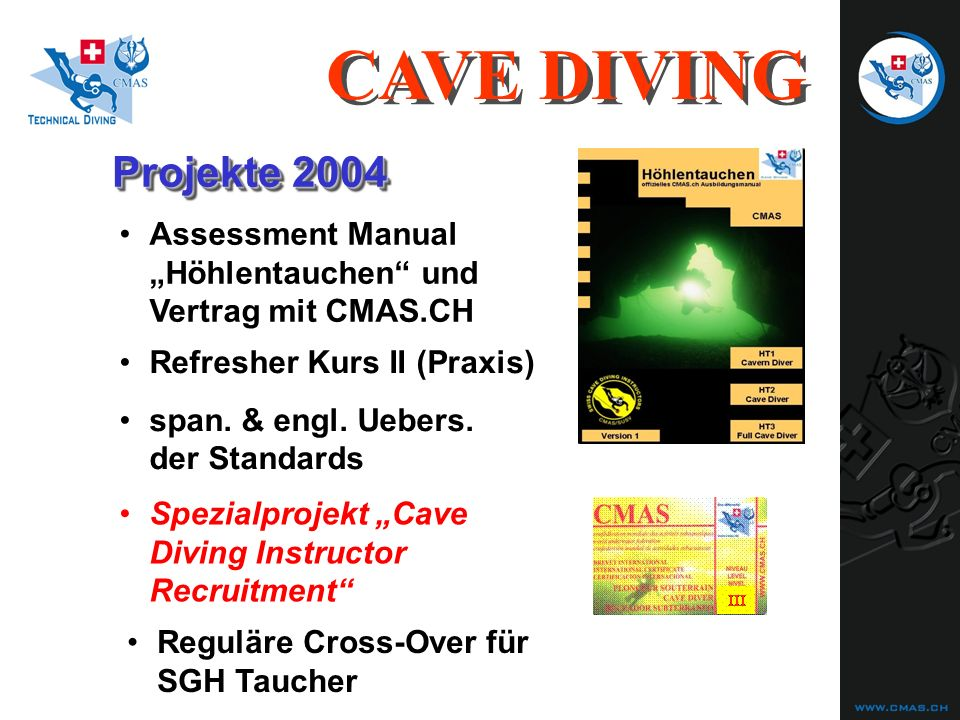 Projekte 2004 Refresher Kurs II (Praxis) span.& engl.