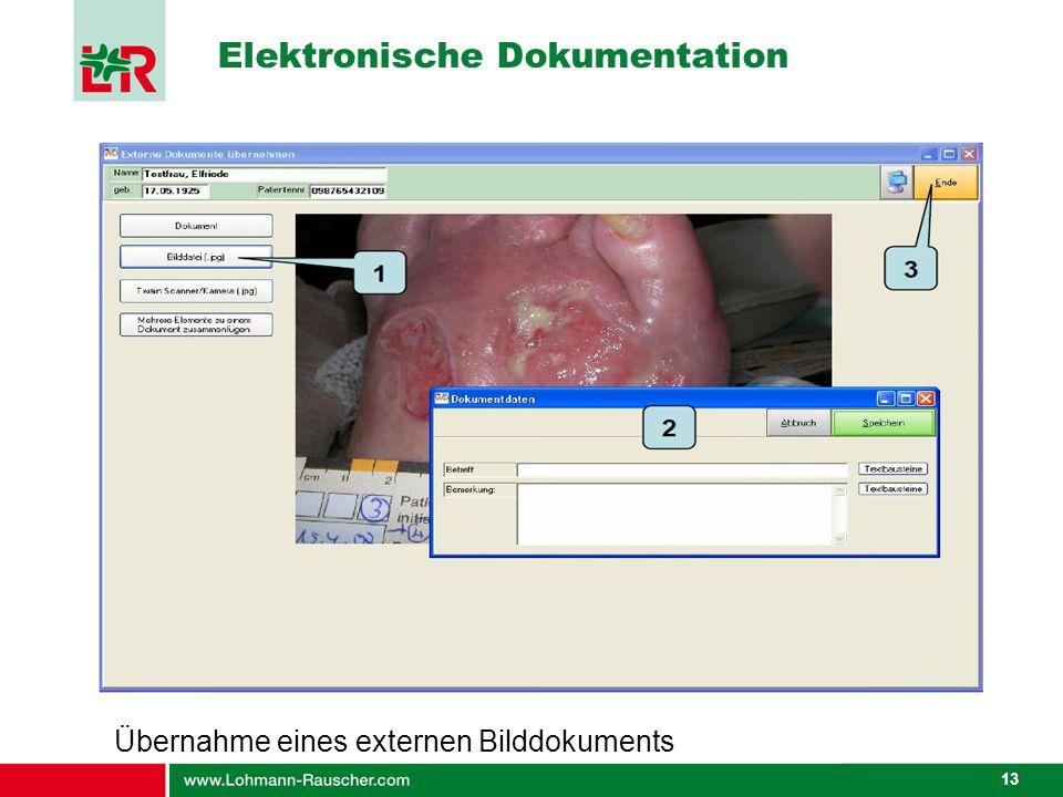 13 Elektronische Dokumentation Übernahme eines externen Bilddokuments