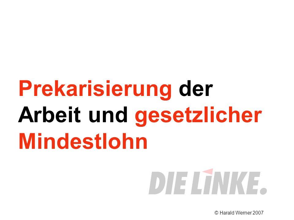 Prekarisierung der Arbeit und gesetzlicher Mindestlohn © Harald Werner 2007