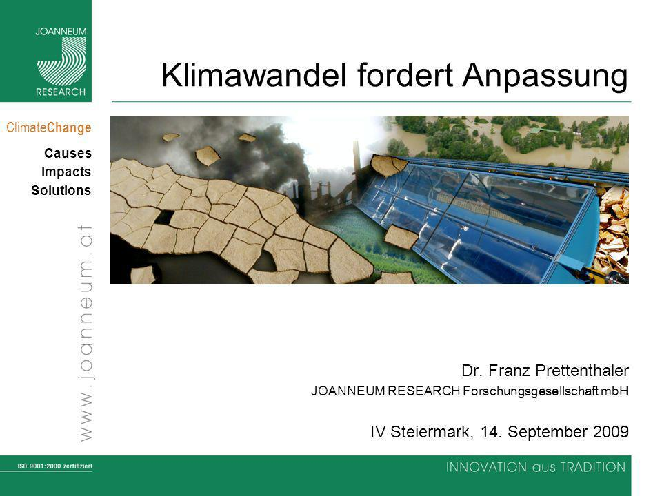 Climate Change Causes Impacts Solutions Klimawandel fordert Anpassung Dr.