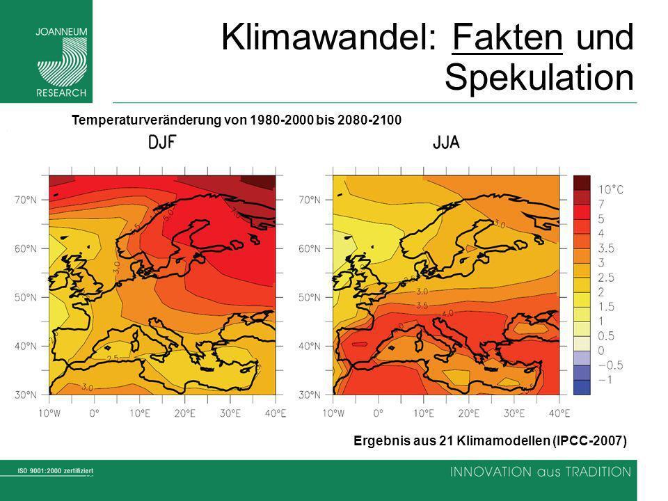 12 Climate Change Causes Impacts Solutions Klimawandel: Fakten und Spekulation Ergebnis aus 21 Klimamodellen (IPCC-2007) Temperaturveränderung von 198