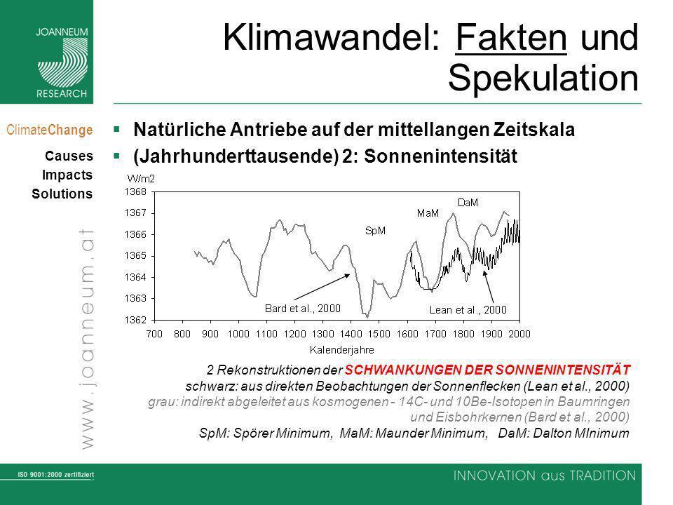 6 Climate Change Causes Impacts Solutions Klimawandel: Fakten und Spekulation Natürliche Antriebe auf der mittellangen Zeitskala (Jahrhunderttausende)