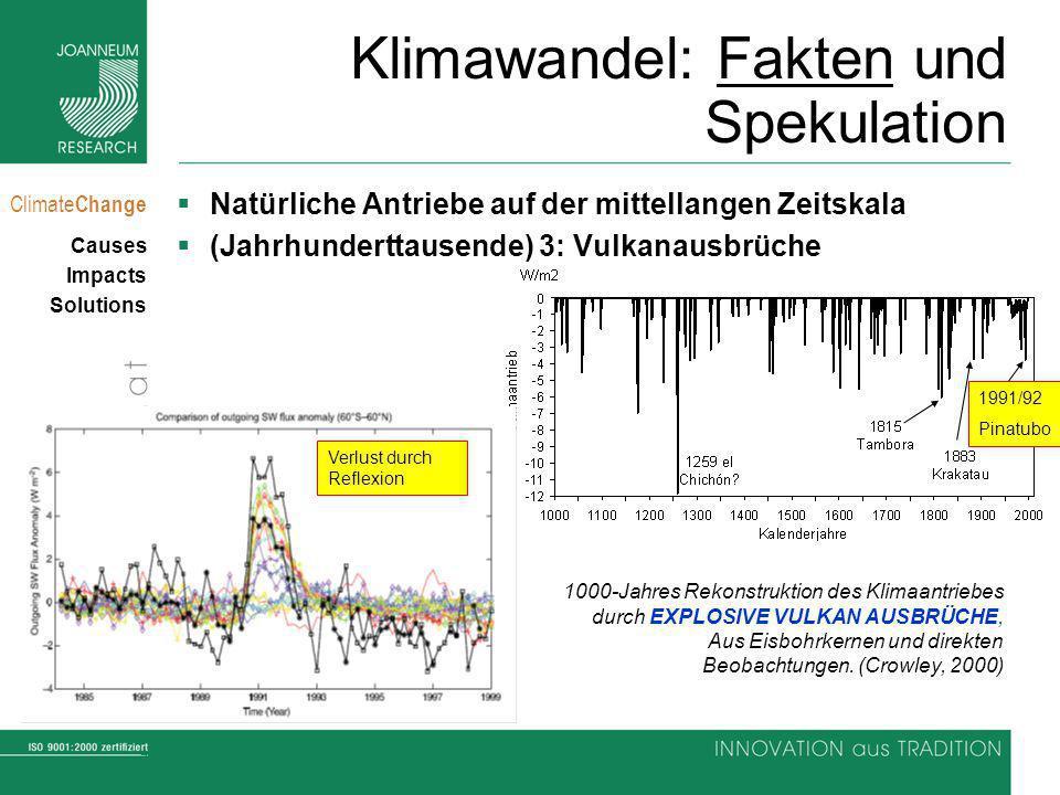 7 Climate Change Causes Impacts Solutions Klimawandel: Fakten und Spekulation Natürliche Antriebe auf der mittellangen Zeitskala (Jahrhunderttausende)