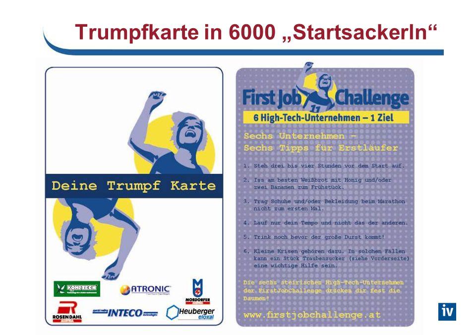 Trumpfkarte in 6000 Startsackerln