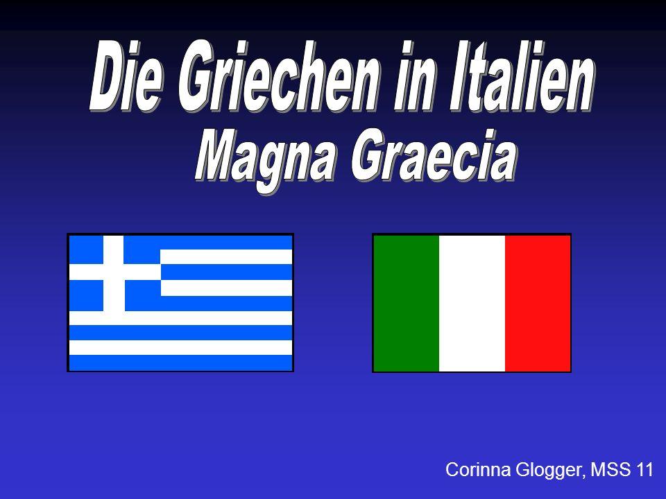 Magna Graecia, zu deutsch Großgriechenland Im Altertum Bezeichnung für das von griechischen Siedlern bewohnte Süditalien und Sizilien.