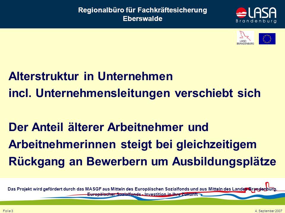 Das Projekt wird gefördert durch das MASGF aus Mitteln des Europäischen Sozialfonds und aus Mitteln des Landes Brandenburg. Europäischer Sozialfonds -