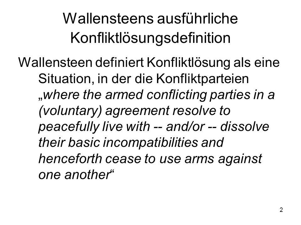 3 Drei Denkschulen I.Theorien der Konfliktdynamik II.