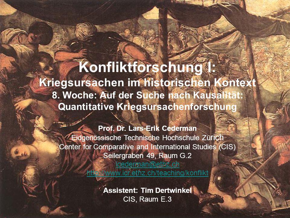 1 Konfliktforschung I: Kriegsursachen im historischen Kontext 8.