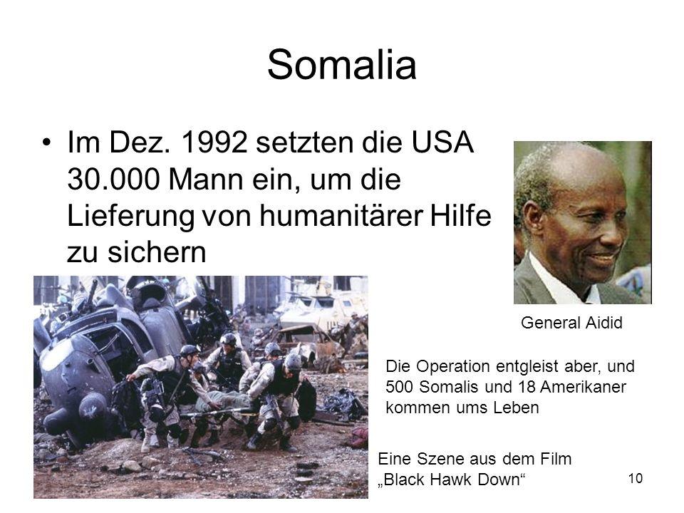 10 Somalia Im Dez.
