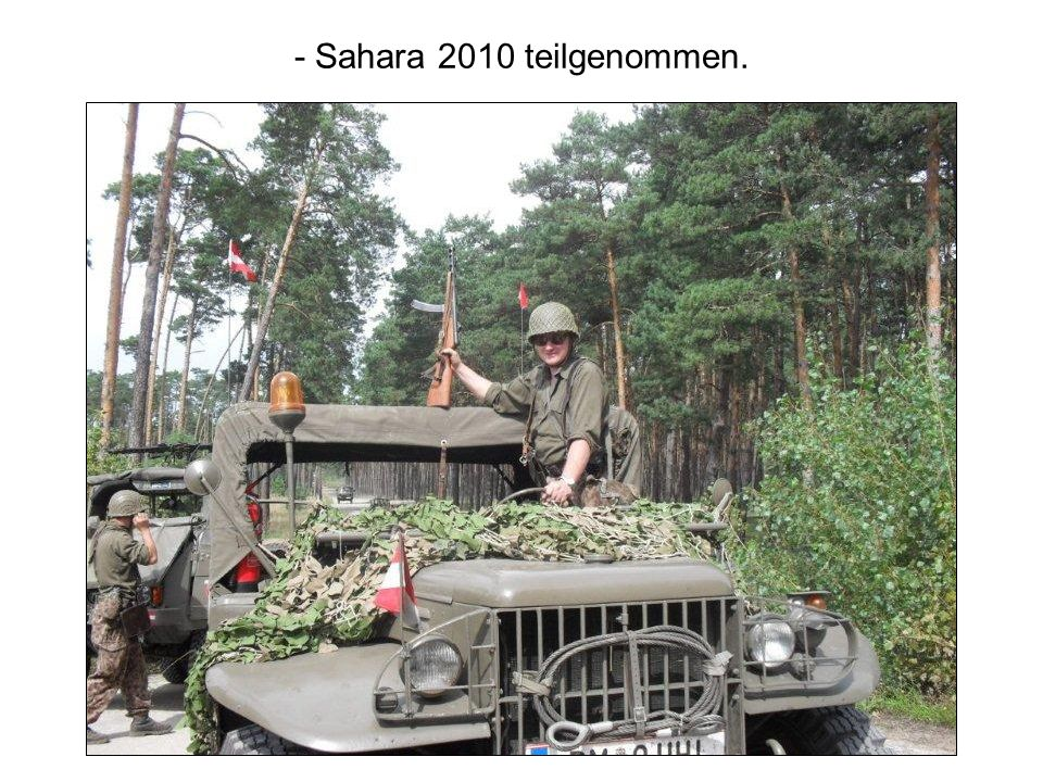 - Sahara 2010 teilgenommen.