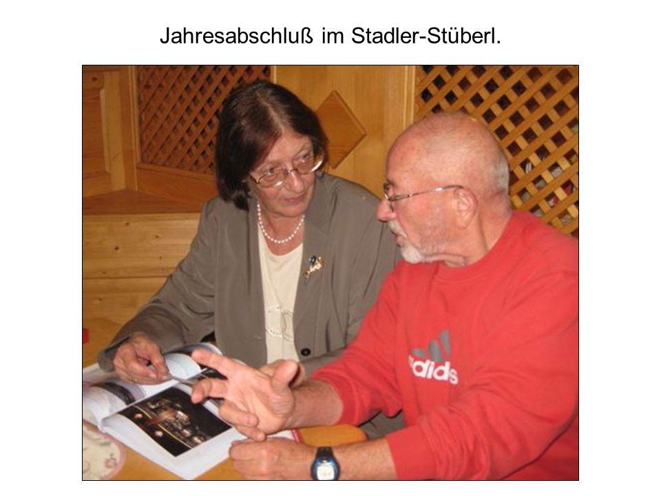 Jahresabschluß im Stadler-Stüberl.