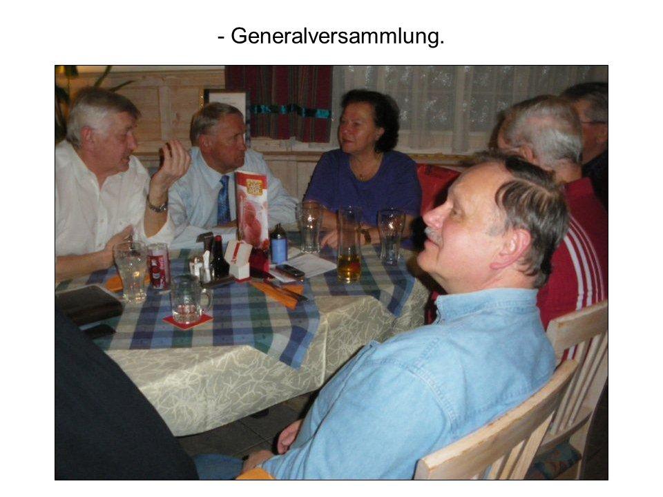 - Generalversammlung.