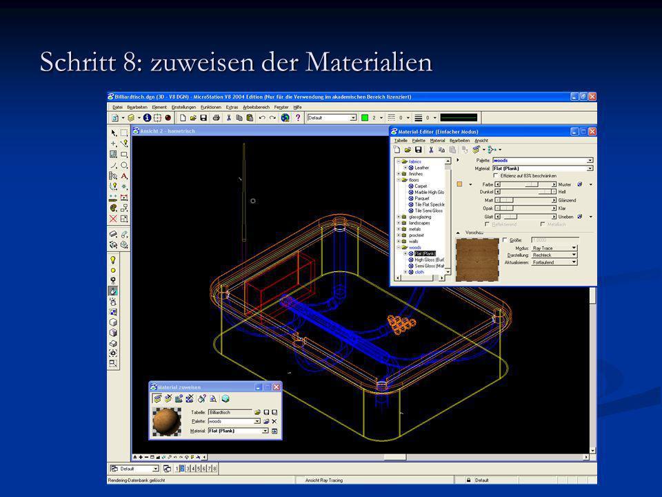 Schritt 8: zuweisen der Materialien